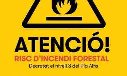 Declaren Altafulla zona alta de risc d'incendis